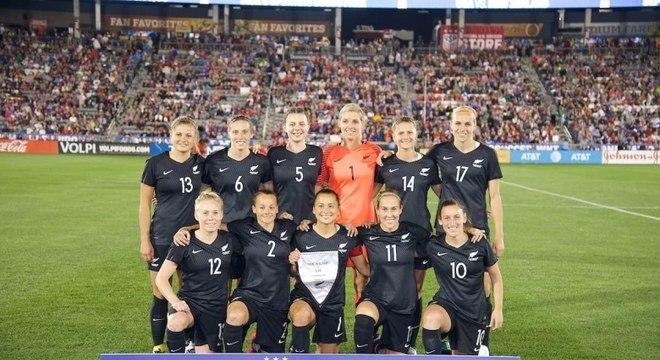 A seleção feminina da Nova Zelândia está na 20ª posição do ranking da Fifa