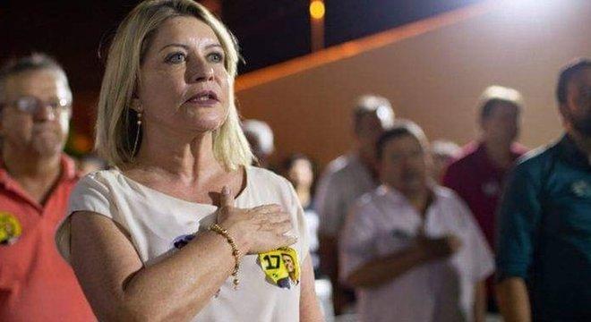 A senadora durante a campanha eleitoral, em Mato Grosso