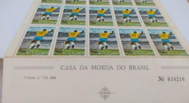 Selos do milésimo gol do Pelé
