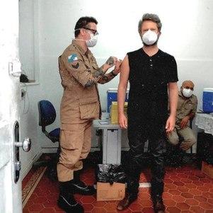 Ator foi vacinado em Humaitá