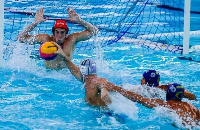 Semifinais masculinas do polo aquático: às 3h30, a Grécia (foto) enfrenta a Hungria. Já às 7h50,  Sérvia e Espanha medem forças.