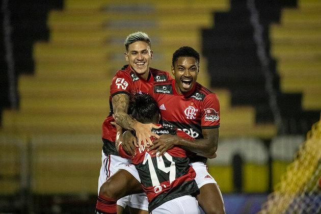 Semifinal, jogo 1 - Volta Redonda 0x3 Flamengo (Estádio Raulino de Oliveira - 01/05/2021) - Gols do Flamengo: Pedro (3)