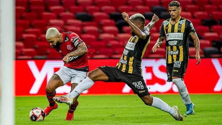 Semifinal, jogo 2 - Flamengo 4x1 Volta Redonda  (Maracanã - 08/05/2021) - Gols do Flamengo: Michael, Gabigol (2) e Vitinho