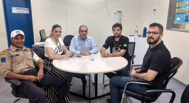 Durante visita ao SEMTRAN de Porto Velho, onde ficou acertado palestra no I Fórum de Segurança e Educação de Trânsito