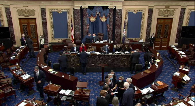 Senadores iriam definir impeachment Trump neste sábado, mas tudo mudou