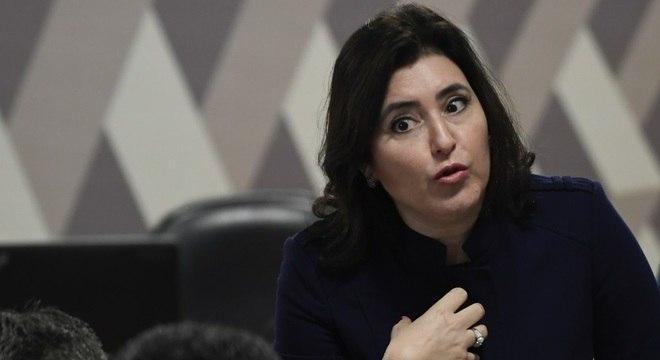 A senadora Simone Tebet