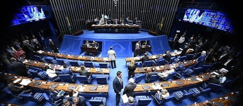 Plenário do Senado Federal durante sessão deliberativa ordinária