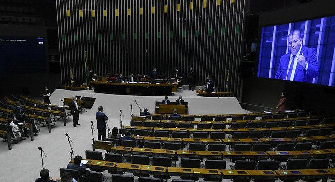 Sessão remota no Congresso para deputados, destinada à deliberação de 32 vetos