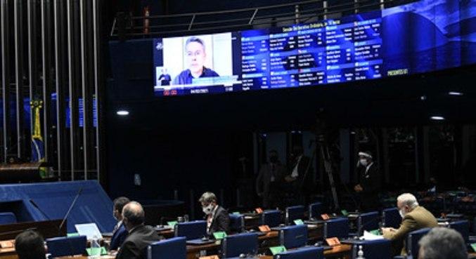 Plenário do Senado Federal durante sessão deliberativa ordinária semipresencial