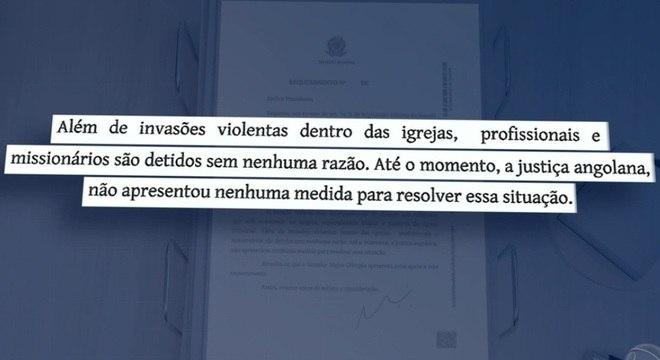 Senadores brasileiros cobram providências da Justiça de Angola