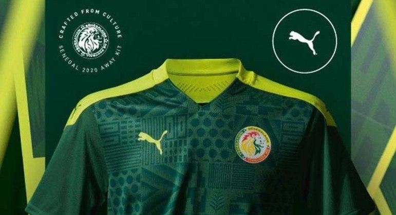 Detalhes do uniforme do Senegal