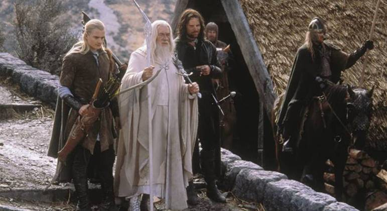 Cena de O Senhor dos Anéis: O Retorno do Rei, lançado em 2003