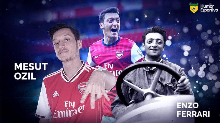 Separados na maternidade: Mesut Özil e Enzo Ferrari, fundador da marca Ferrari. Apesar da semelhança, eles não são da mesma família