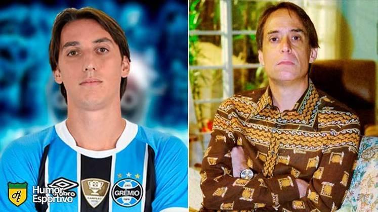Separados na maternidade: Pedro Geromel e Agostinho Carrara