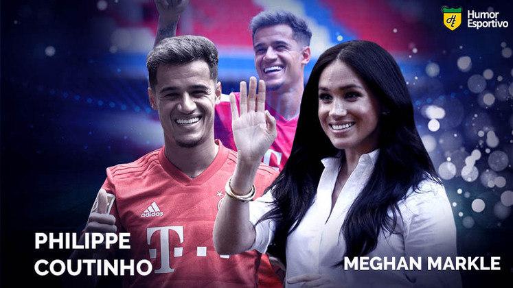 Separados na maternidade: Philipe Coutinho e a atriz Meghan Markle