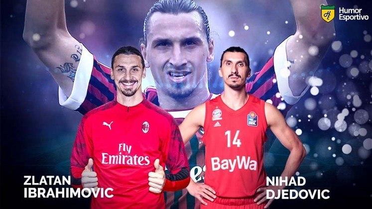 Separados na maternidade: Zlatan Ibrahimovic e o jogador de basquete Nihad Djedovic