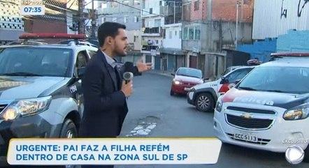 Ao vivo, mostrando a movimentação policial durante sequestro na zona sul de SP