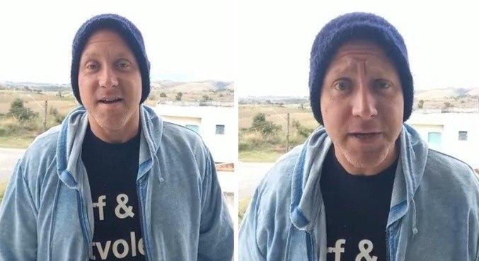Sérgio Francisco Hondjakoff Mendonça em vídeo negando internação