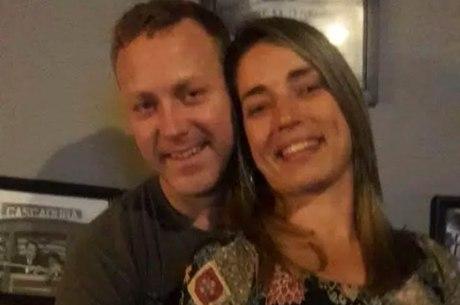 Sergio Hondjakoff e a namorada Danielle Monteiro