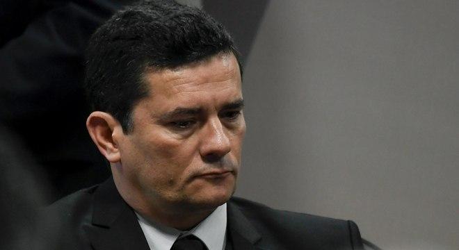 Sérgio Moro, durante sua audiência com senadores nesta quarta-feira