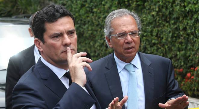 Sérgio Moro e Paulo Guedes se encontraram no Rio de Janeiro