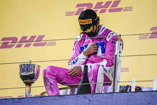 Sergio Pérez, da Racing Point, foi ao pódio duas vezes em 2020.