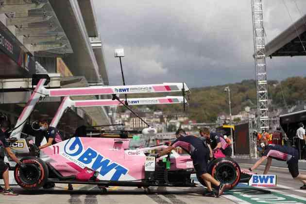 Sergio Pérez fez bom trabalho e foi o único carro da Racing Point no Q3