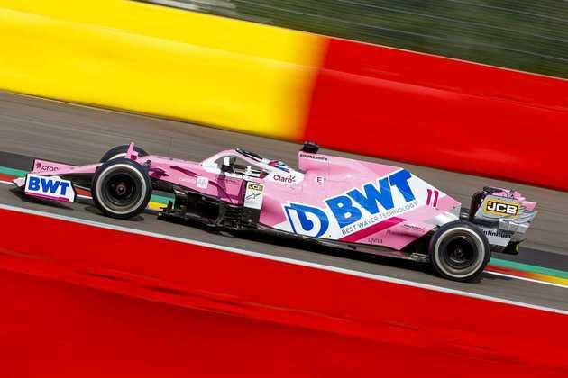 Sergio Pérez não fez boa corrida em Spa e terminou apenas na décima colocação