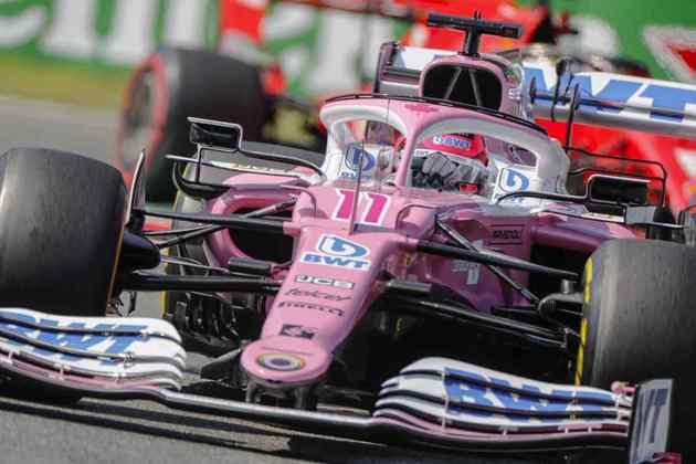 Sergio Pérez queimou borracha e conseguiu o quarto lugar no grid