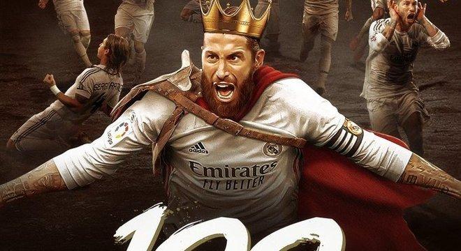 """Sérgio Ramos, 100 gols com a camisa """"Merengue"""""""