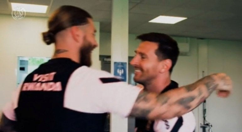 Sérgio Ramos e Messi - PSG