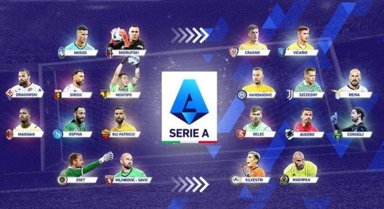 Os arqueiros titulares dos 20 clubes da Série A