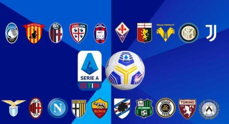 Os vinte clubes da Série A em 2020/2021