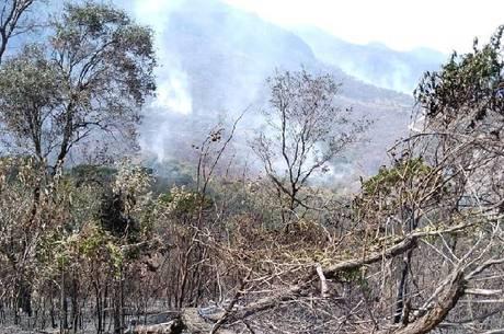 Incêndio destrói 50% do Parque Serra da Moeda (MG)