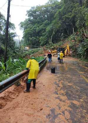 Deslizamentos de terra ocorreram duas vezes na serra do Guaraú