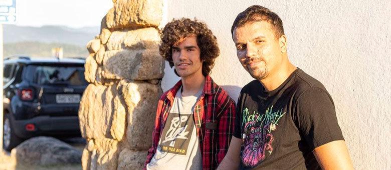 João Gabriel Paulsen (à esquerda) e Felipe Holloway