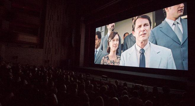 Sessão de pré-estreia do filme Nada a Perder no Teatro Bradesco, em São Paulo