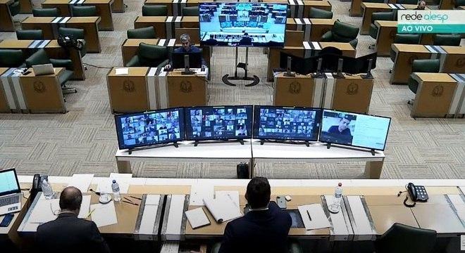 Sessão virtual da Assembleia Legislativa de São Paulo
