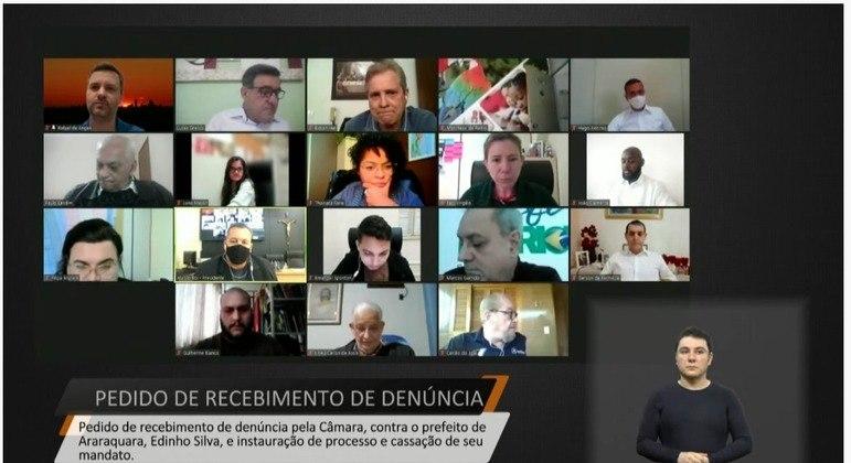 Sessão plenária da Câmara de Araraquara ocorreu de forma virtual na noite desta terça (3)