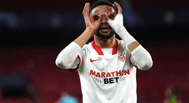 El-Nesyri, os dois gols decisivos do Sevilla