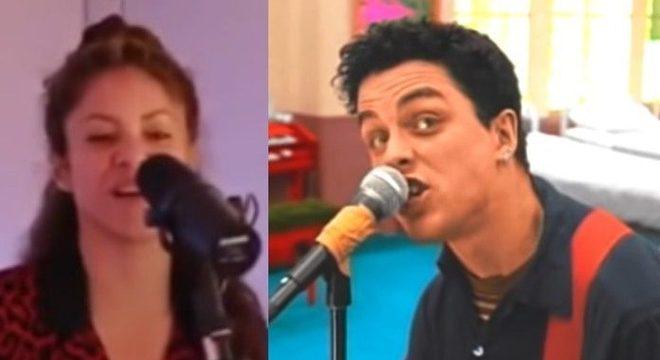 Que crossover! Shakira canta música do Green Day e banda reage