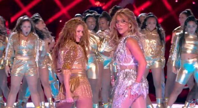 Shakira e Jennifer Lopez no Super Bowl