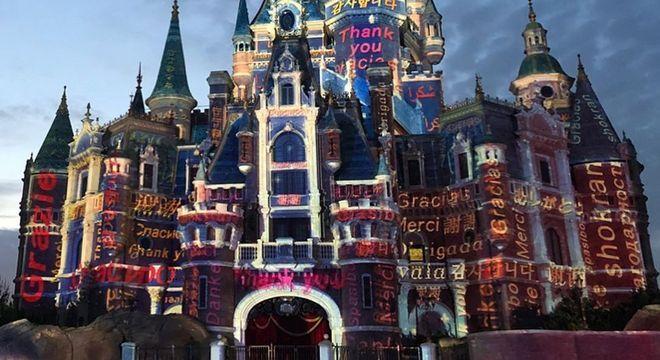 Fachada do Shanghai Disney Resort, em Xangai, na China
