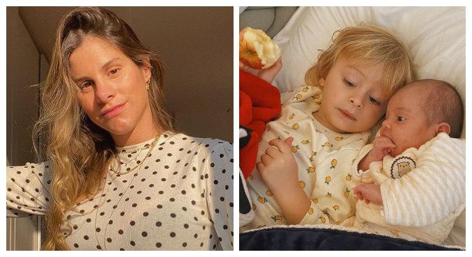 Shantal postou foto de Felippo e Domenica deitado juntos na cama