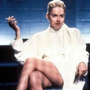 """Sharon Stone no filme """"Instinto Selvagem"""""""
