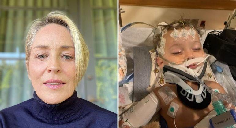 Sharon Stone diz que afilhado precisa de um milagre após falência total de órgãos