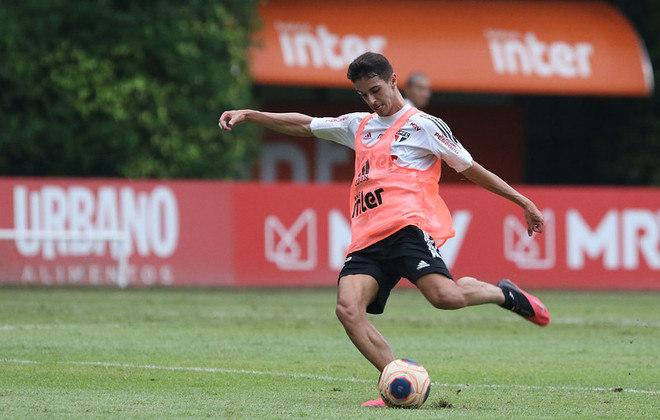Shaylon - Clube: São Paulo - Posição: Meia - Idade: 26 anos - Jogos completados no Brasileirão 2021: 2 jogos - Situação no clube: Concorrência na posição