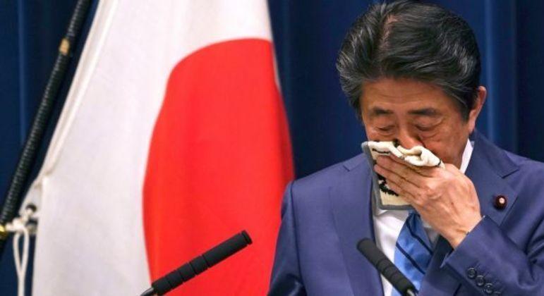 O primeiro-ministro Shinzo Abe
