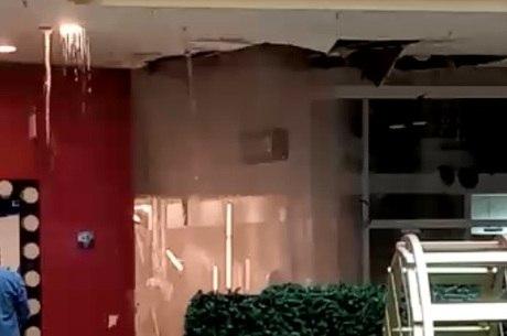 Vídeo mostra vazamento de água
