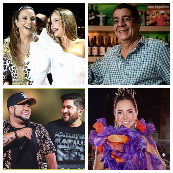 Ivete, Claudia, Zeca, Barões da Pisadinha e Daniela Mercury vão fazer show online